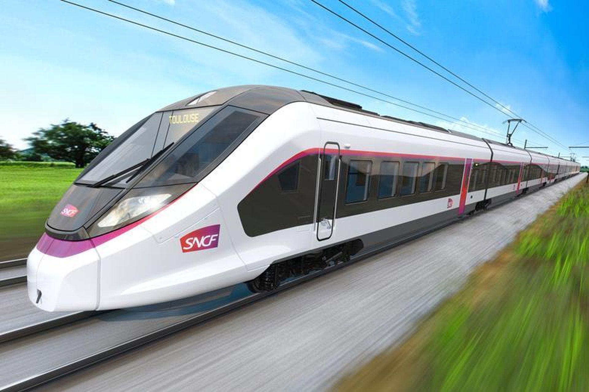 Vizualizace nové jednotky CAF pro SNCF Intercités. Foto: CAF