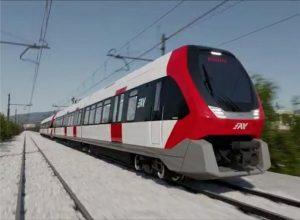 Nové elektrické jednotky pro provoz na železnici Circumvesuviana. Foto: Hitachi Rail
