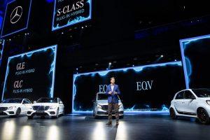 Autosalon ve Frankfurtu, představení novinek Mercedesu. Foto: IAA