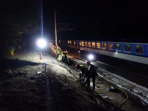 Práce na trati 010 u Opočínku. Foto: SŽDC