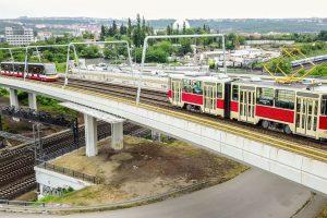 Tramvaje mezi Palmovkou a Ohradou. Foto: Roman Hloch - Tramvaje v České republice
