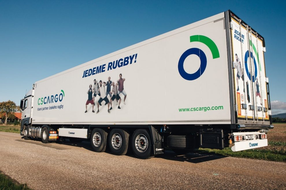 Kamion C.S. Cargo propaguje ragby. Autor: C.S. Cargo