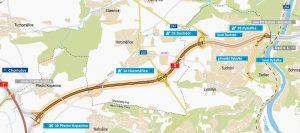 Plán trasy úseku 518 Pražského okruhu mezi Ruzyní a Suchdolem. Foto: ŘSD
