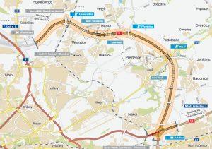 Navrhovaná trasa Pražského okruhu Březiněves - Satalice. Foto: ŘSD