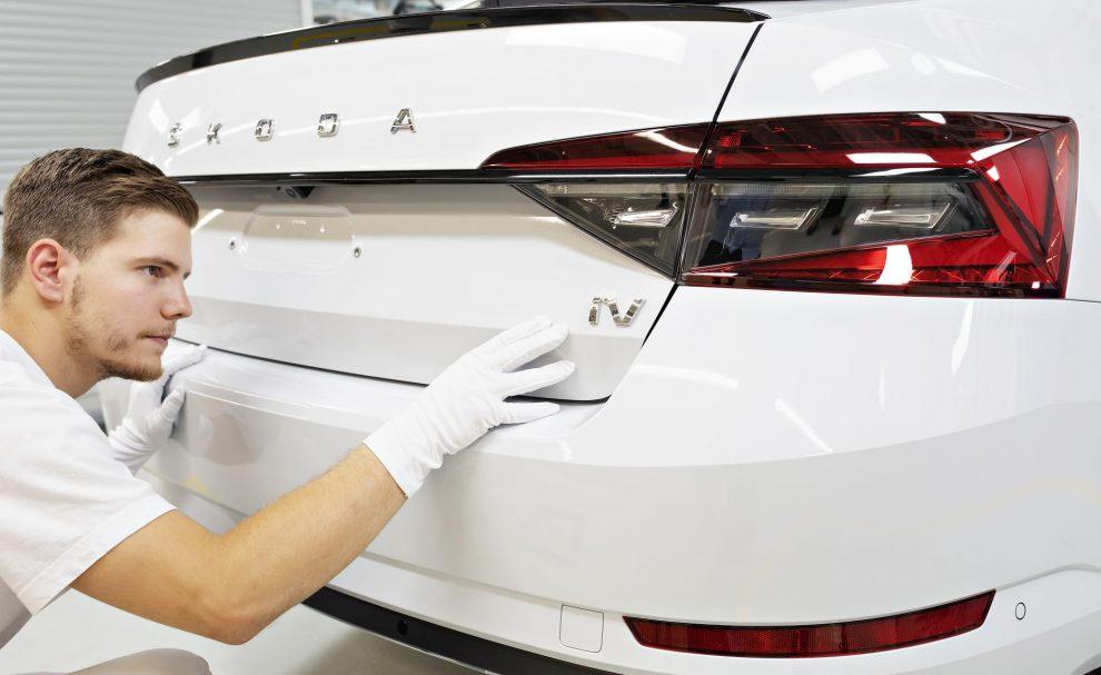 Výroba vozu Škoda Superb iV. Foto: Škoda Auto