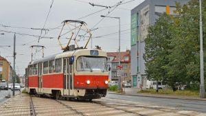 Tramvaj T3SU na lince 7. Foto: Roman Hloch - Tramvaje v České republice