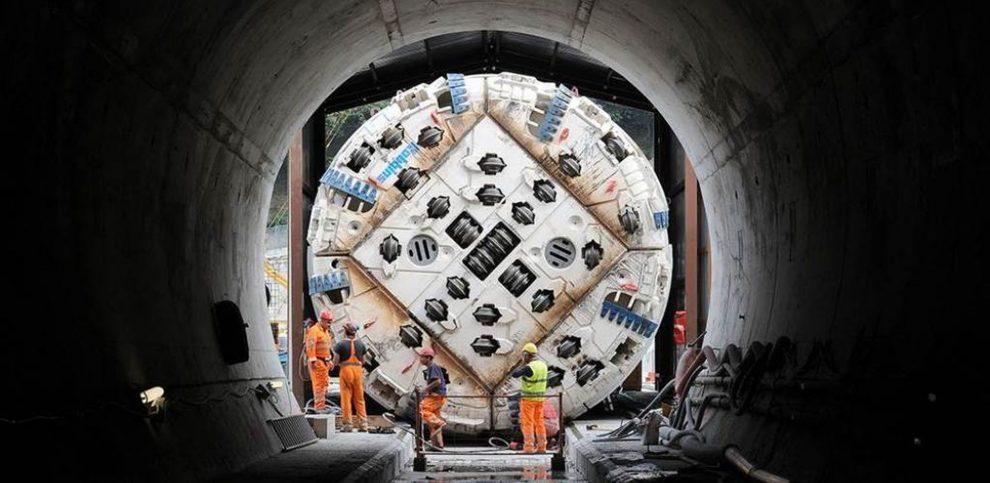 Proražení první části tunelu na nové vysokorychlostní trati Lyon - Turín. Foto: TELT