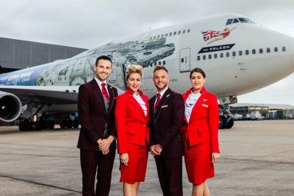 Boeing 747-400 společnosti Virgin Atlantic v reklamním polepu Star Wars. Foto: Virgin Atlantic