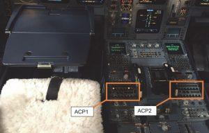 Snímek kokpitu A330 ukazuje, kam se vylila káva. Foto: AAIB