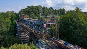 Oprava mostu před národní přírodní rezervaci Peklo v Zahrádkách u České Lípy. Foto: SŽDC
