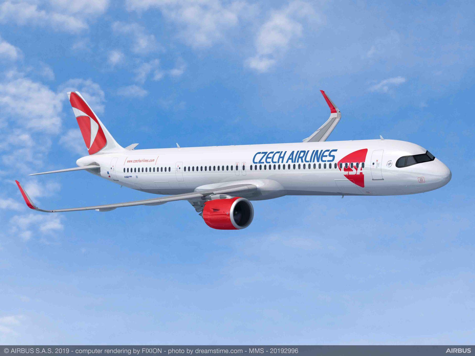 A321XLR v barvách Českých aerolinií: Foto: Airbus