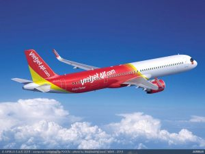A321XLR v barvách pro VietJet. Foto: Airbus