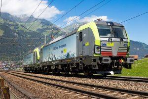 Lokomotivy Vectron švýcarské společnosti BLS Cargo. Pramen. Siemens