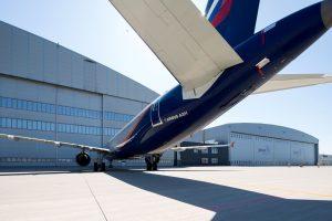 A321 společnosti Aeroflot před novým hangárem Job Air Technic. Foto: JAT
