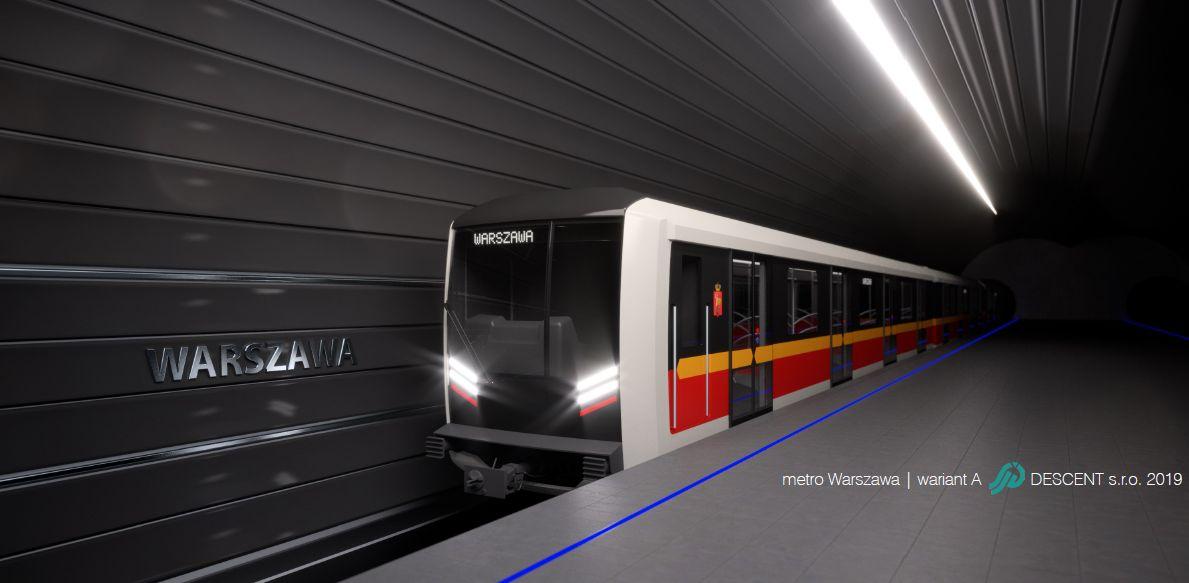 Nové metro pro Varšavu, vizualizace. Pramen: Škoda Transportation