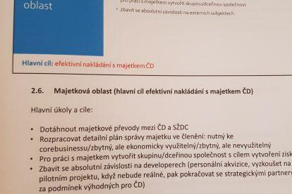 Koncepce Václava Nebeského s Českými drahami.