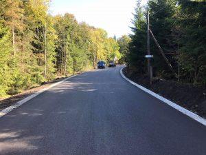 Opravená silnice z Jablonce nad Nisou na Dolní Černou Studnici. Foto: Liberecký kraj