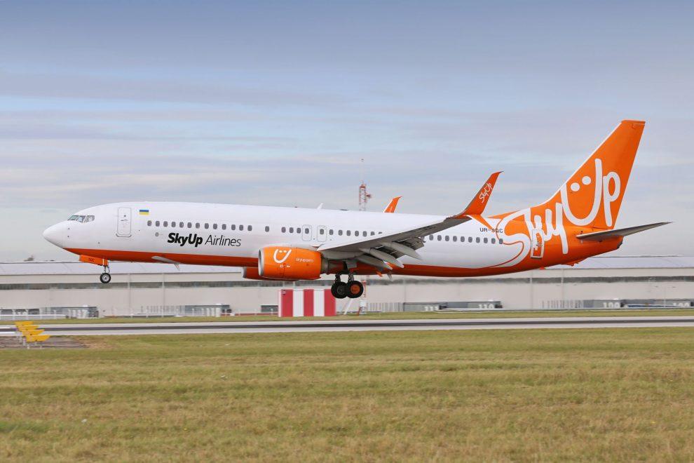 SkyUp Airlines přistávají na Letiště Praha s prvním letem. Foto: Letiště Praha