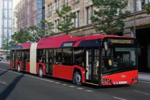 Trolejbus Škoda 27Tr v Budapešti. Pramen: Škoda Electric