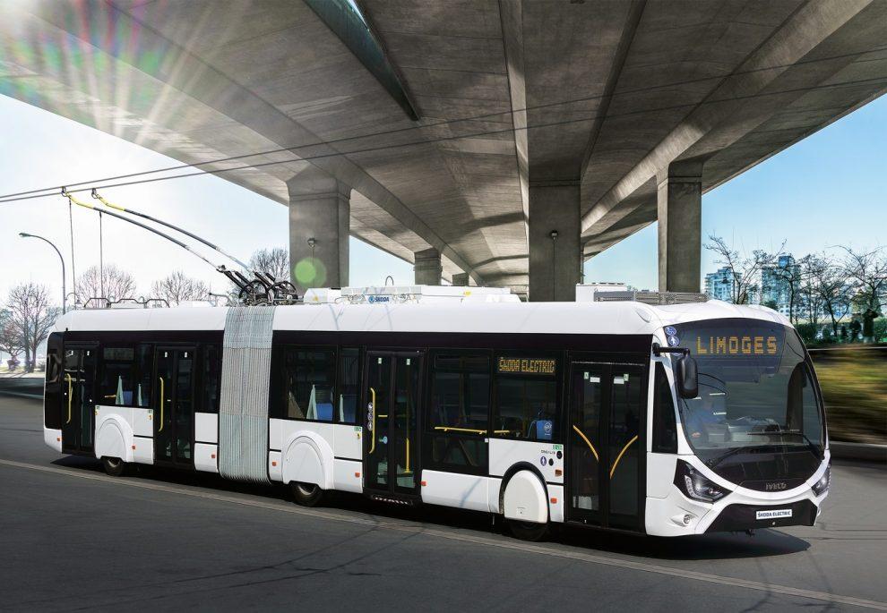 Trolejbus Iveco s výzbrojí Škoda pro město Limoges. Pramen: Škoda Electric