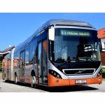Hybridní autobus Volvo ve službách českobudějovické MHD. Pramen: DPMCB