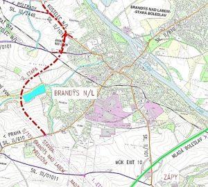 Trasa obchvatu Brandýsa nad Labem. Foto: Středočeský kraj