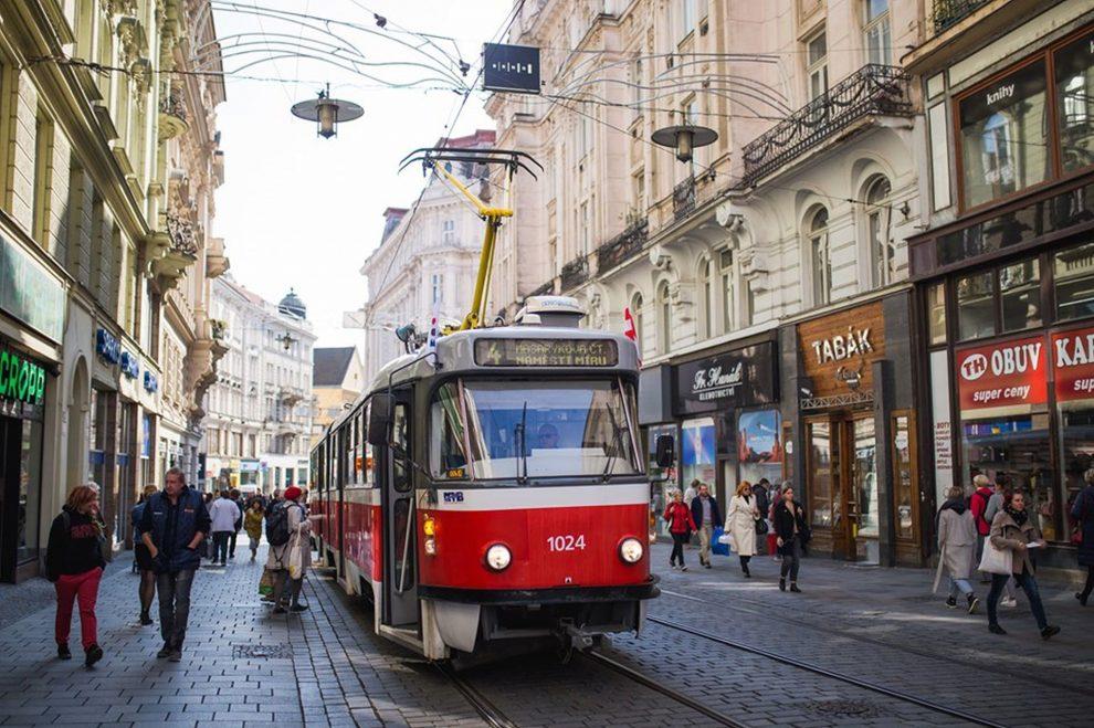 Tramvaj v Masarykově ulici. Foto: KDU-ČSL Brno-střed