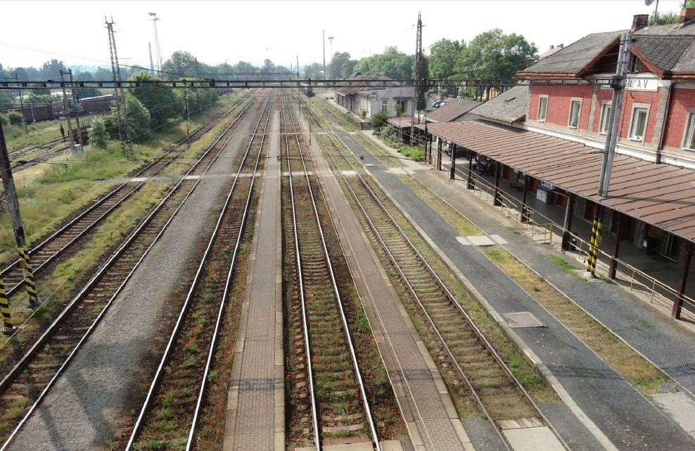 Železniční stanice Čáslav. Pramen: SŽDC/dokumentace EIA