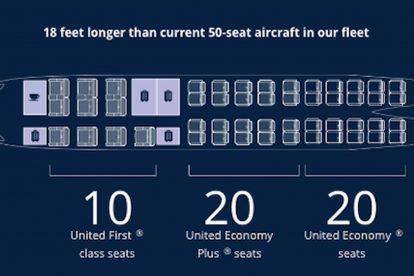 Plánek letadla CRJ-550. Foto: United Airlines