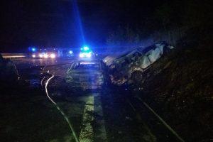 Nehoda 13. října 2019 na D1. Foto: ŘSD