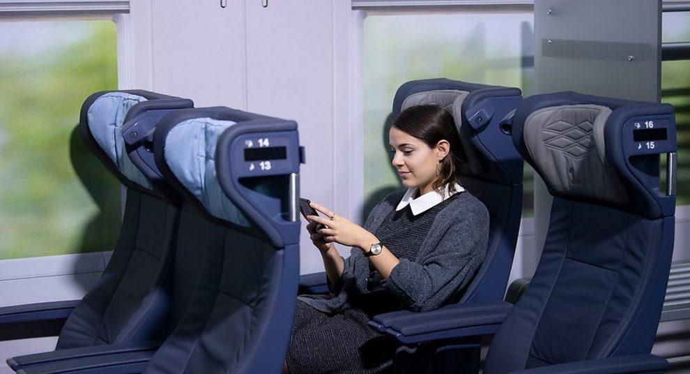 Nové sedačky v rychlovlacích ICE. Foto: DB