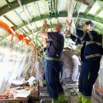 Modifikace kabiny a osazení wifi v letadle společnosti Finnair. Pramen: CSAT