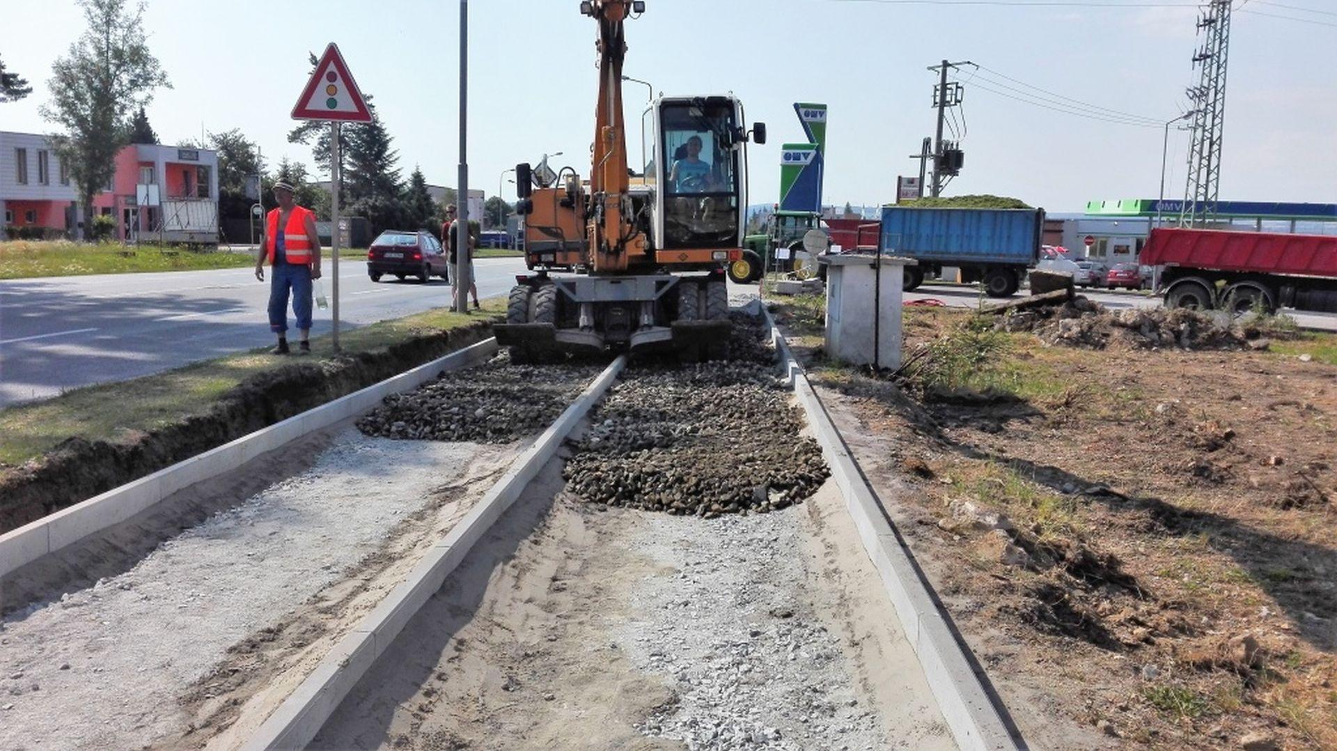 Budování cyklostezky podél silnice I/38 v Havlíčkově Brodě. Foto: Chládek a Tintěra Havlíčkův Brod