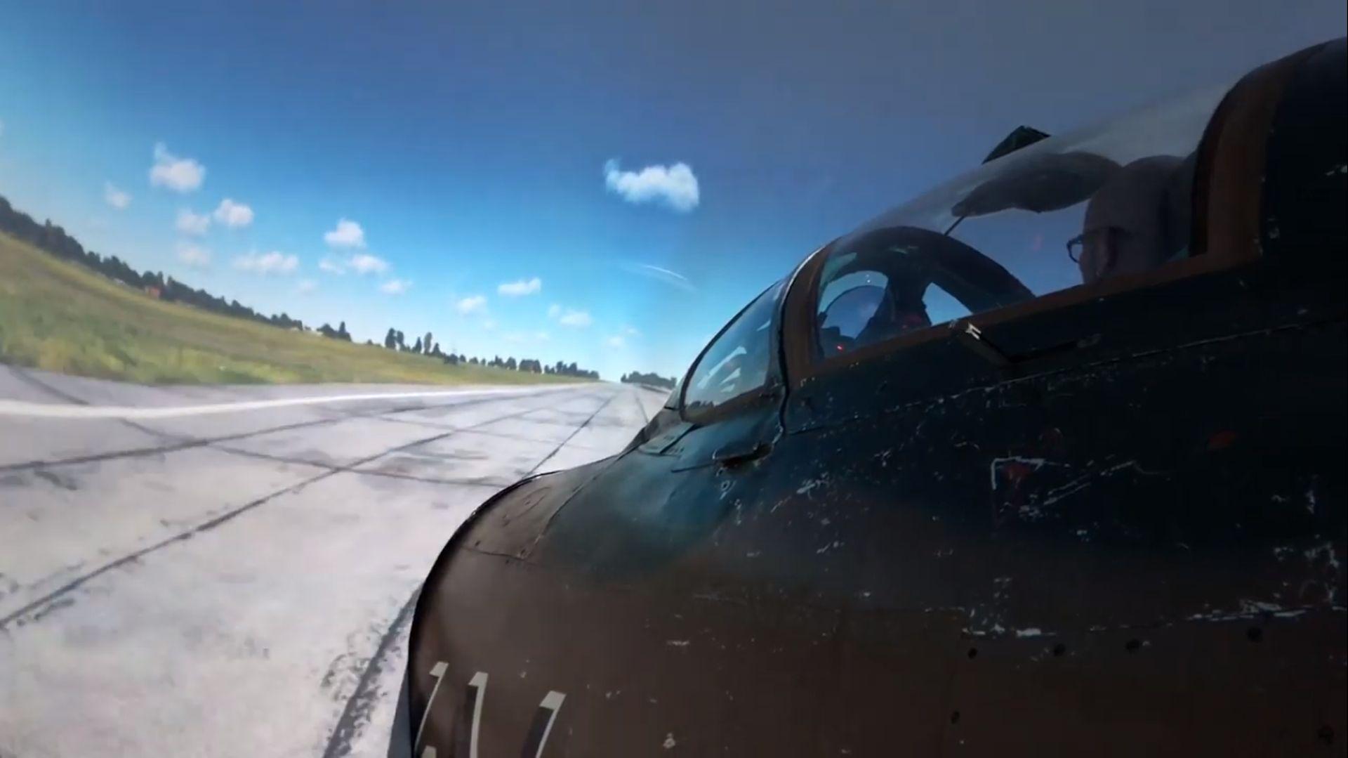 Pohled na simulátor Mig-21MF ve Vratislavicích nad Nisou. Foto: Petr Bílý / youtube.com