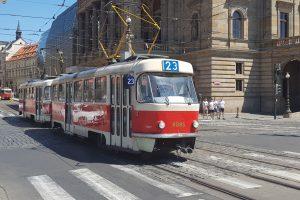 Velké komplikace mohou cestující čekat v pátek 11. října zejména v dopravě u Národního divadla. Foto: Jan Sůra