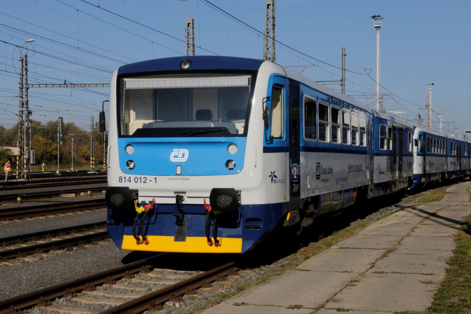 Jednotky 814 Regionova v Olomouci.. Foto: České dráhy