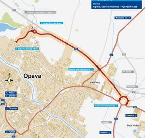 Trasa východní části obchvatu Opavy. Foto: ŘSD