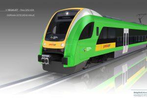 Nová podoba vlaků Pesa Elf.Eu pro Regiojet. Foto: Pesa/RegioJet