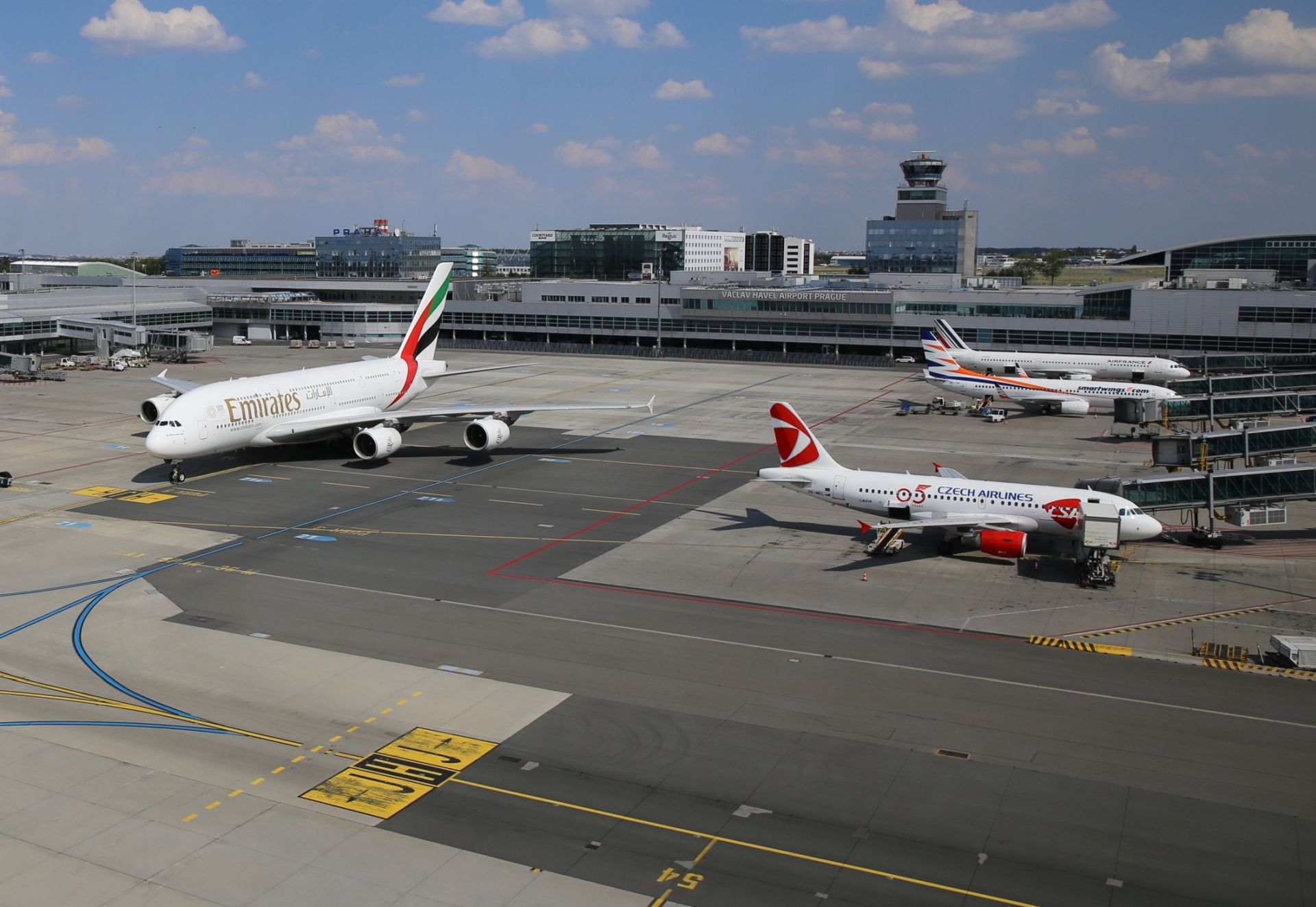 Letiště Václava Havla. Pramen: Letiště Praha