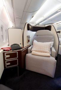První třída na palubě A380 společnosti Qantas po modernizaci. Foto: Qantas