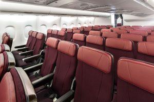 A380 společnosti Qantas a ekonomická třída po modernizaci. Foto: Qantas