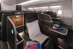 Byznys třída v A380 společnosti Qantas po modernizaci. Foto: Qantas
