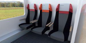 Vizualizace kupé 2. třídy se sedadly Borcad pro linku RegioJetu R8 Brno - Bohumín. Foto: RegioJet
