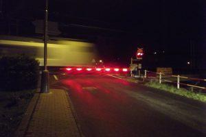 Přejezd u Velkého Března, který je nově osazen i LED diodami. Foto: SŽDC