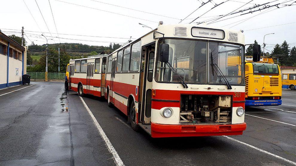 Trolejbus Škoda - Sanos ve Zlíně. Foto: DSZO