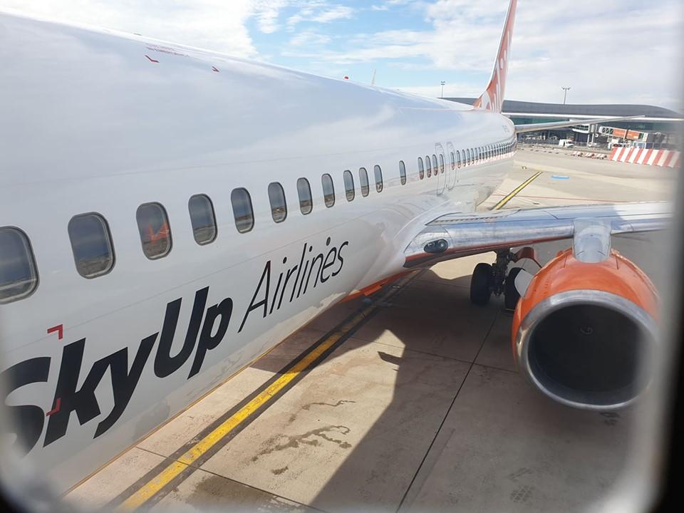 Boeing 737-800 společnosti SkyUp Airlines v Praze. Foto: Rosťa Kopecký / Flyrosta.com