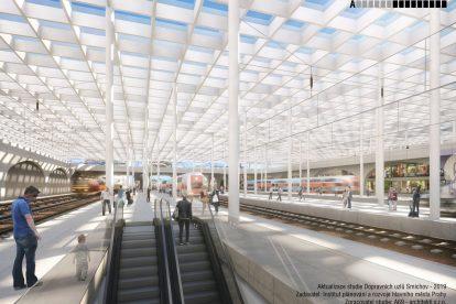 Nová podoba dopravního terminálu na Smíchově. Foto: IPR