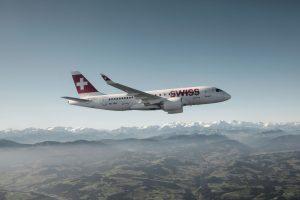 Airbus A220-100 v barvách společnosti Swiss. Foto: Swiss