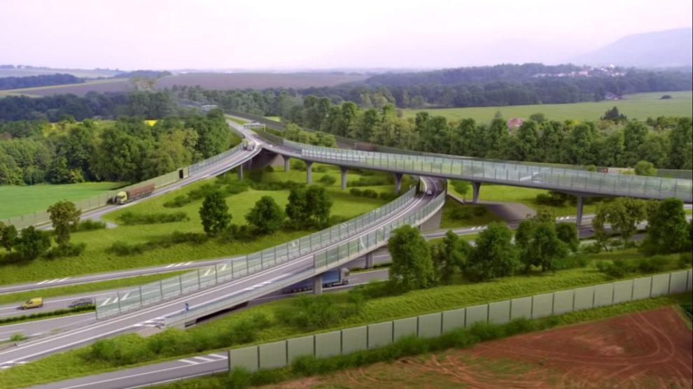Vizualizace silnice I/68 Třanovice - Nebory. Foto: ŘSD