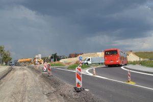 Stavba obchvatu Znojma. Foto: ŘSD